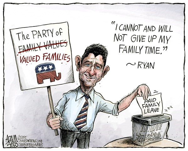 Paul Ryan Family Time Cartoon